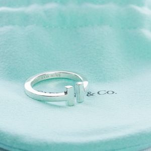 Tiffany & Co. T Square Ring Sterling Silver